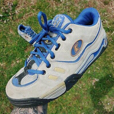 Vtg 90s Kastel Olympus Skate Shoes Tan Suede Blue Orange Rare Obscure Sz 11