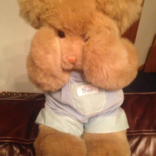 Mango Peek A Boo Teddy Bear Plush 16 Stuffed Animal Magnetic Hands Coveralls  - $16.99