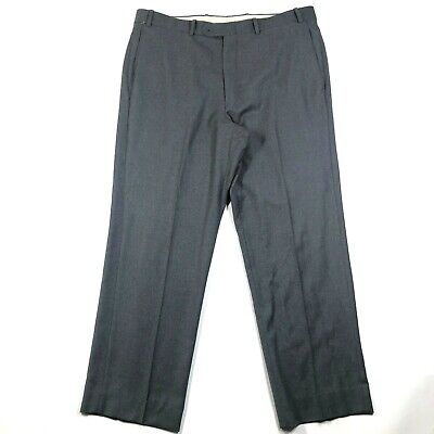 JB Britches for Nordstrom Mens 38R Wool Cashmere Blend Charcoal Gray Dress Pants