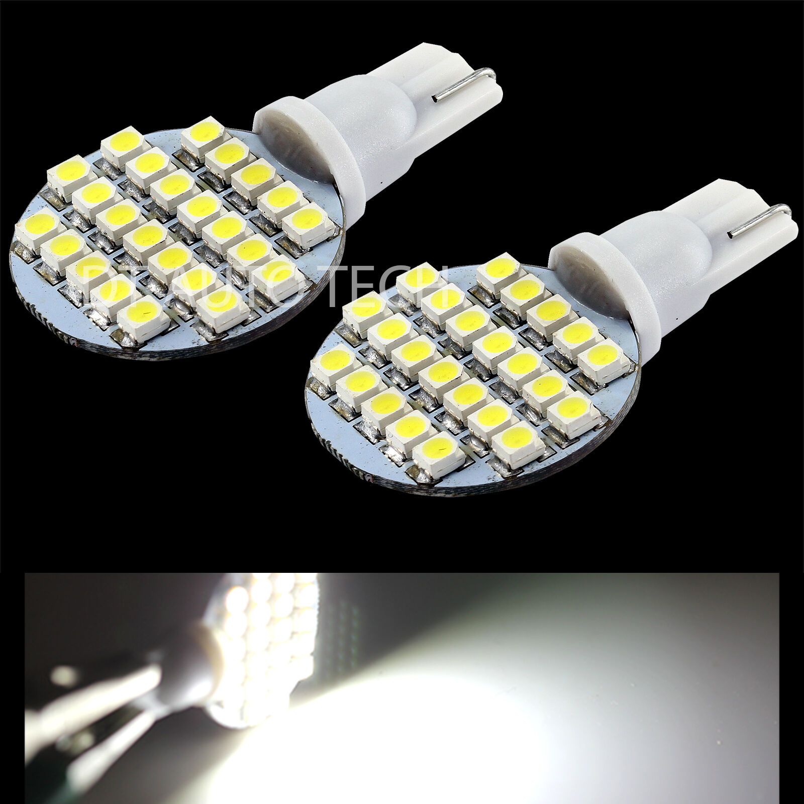 10x t10 921 194 rv trailer interior 12v led light bulbs 24 smd ebay. Black Bedroom Furniture Sets. Home Design Ideas