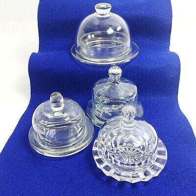 Domed Glass Dishes Cheese Covers Butter Dish Candy Cupcake Servers Crafts Hobby - Candy Craft Server