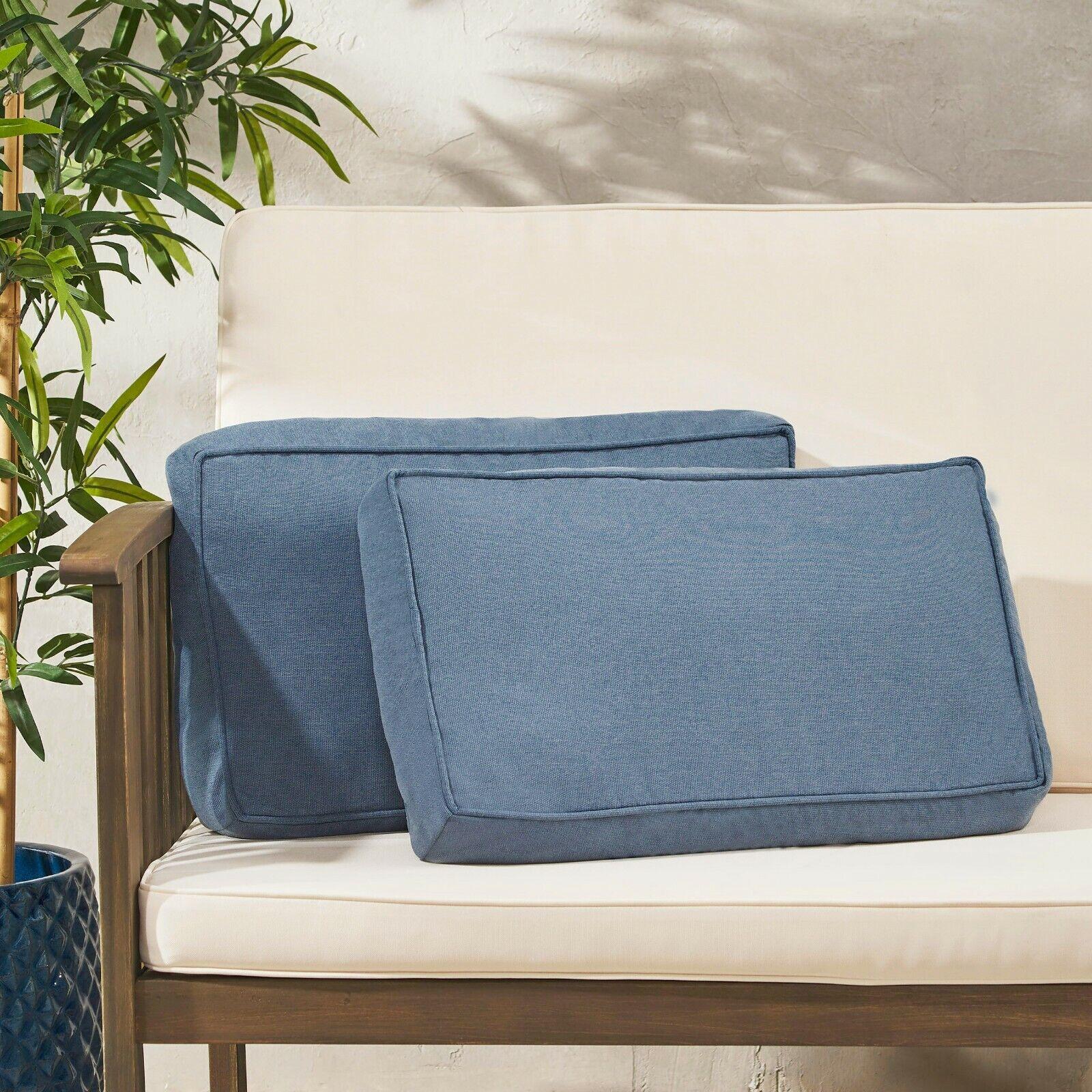 Rydder Coast Outdoor Rectanglular Water Resistant 12″x20″ Lumbar Pillows Home & Garden
