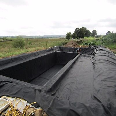 2.5m x 2.5m Garden & Lake Pond Liner SealEco Greenseal Rubber Pond Liner 0.75mm