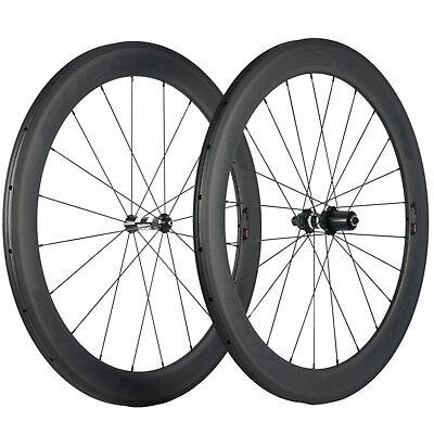 Superteam 60mm Depth Carbon Wheelset Tubular/Clincher DT350 Hub Road Bike Wheels