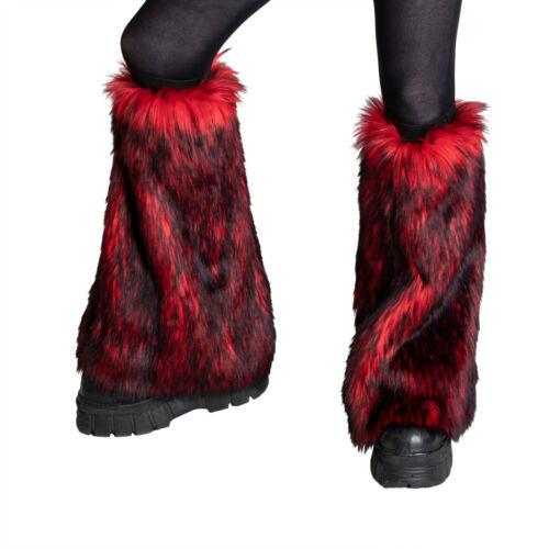 PAWSTAR Wild Wolf Fur Leg Warmers - faux fluffy fluffies furry rave [RDW]2510
