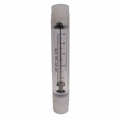 Prm 2-25 Scfm Rotameter Viton Seals 1-12 Inch Mnpt Connect Air Flow Meter Nib