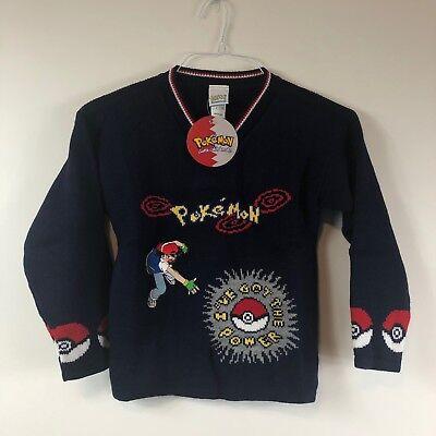 Official Licensed Pokemon Rare Ash Poke Ball Sweater Children