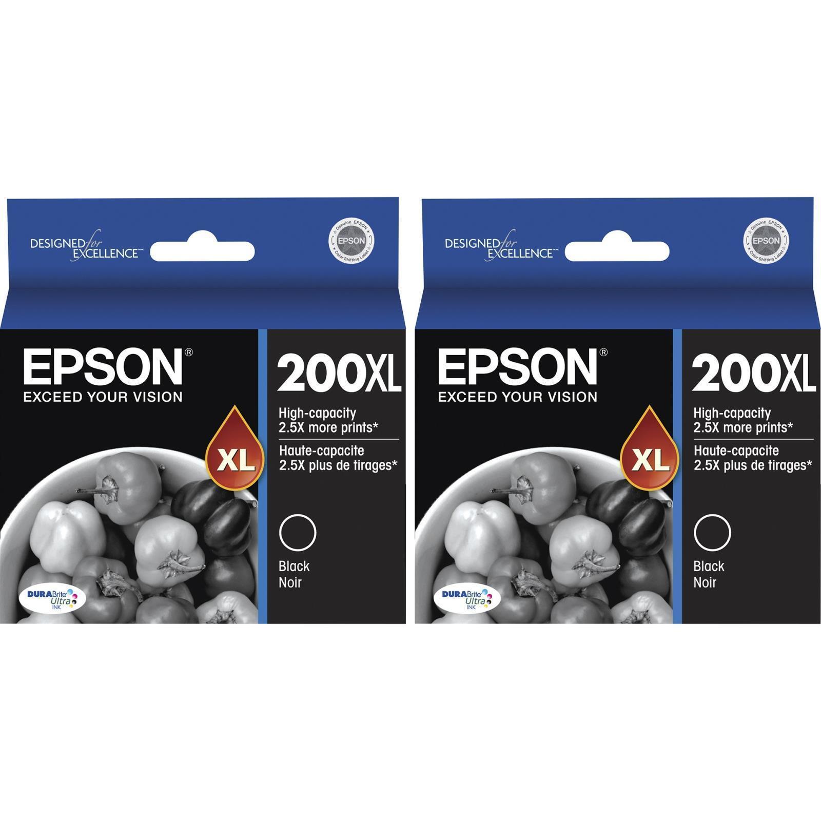 2-pack Epson Genuine 200xl Black Ink (no Retail Box) Expr...