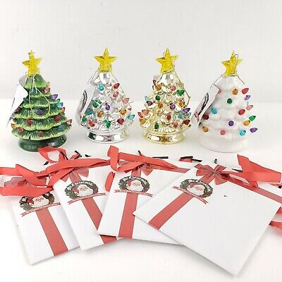 Mr. Christmas Set of 4 Mini Nostalgic Tree Ornaments w/ Gift Bags Multi-Color