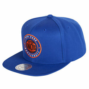 competitive price 6d5e2 a4d65 NBA New York Knicks Hardwood Classics Circle Patch Snapback Cap Hat Mens