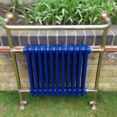 Large Brass Towel Rail Radiator Old Antique Reclaimed Salvage Heavy Cast Iron.