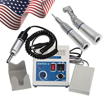 Dental Lab Marathon Micro Motor 35k Rpm N3 Straight Handpiece Contra Angle Yph
