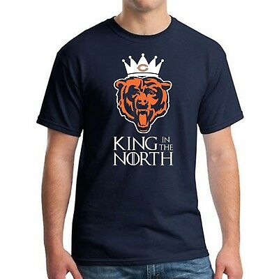 CHICAGO BEARS NFC NAVY NORTH CHAMPIONSHIP SHIRT - KING IN THE NORTH Sizes S-5XL