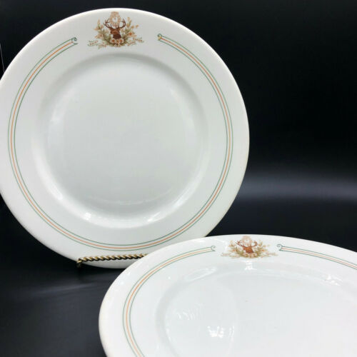 O.P.Co. Syracuse China Two Grand Rapids Elks Daisy Lodge 48 Dinner Plates~1903