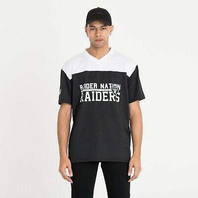 New Era Men's NFL Las Vegas Raiders Stacked Word Mark Black White Oversized Tee