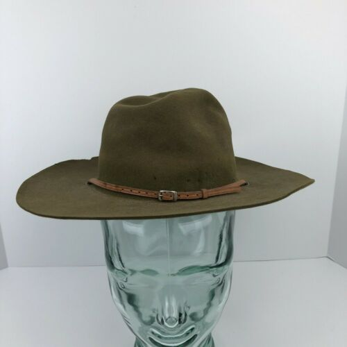 Vintage Boy Scouts Of America BSA Scoutmaster Felt Campaign Hat Size 7 1/8