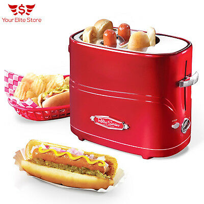 Hot Dog Toaster Pop-Up Cooker Retro Series Elite Electrics Gismo Roller Red