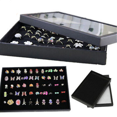 100 Rings Jewellery Display Storage Box Tray Show Case Organiser Earring Holder