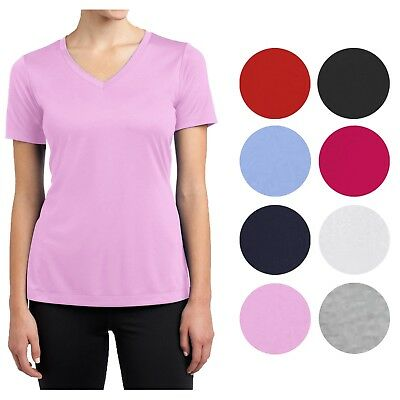 Womens Short Sleeve V-Neck Cotton Stretched Tees Tops Lounge Undershirts (Short Sleeve V-neck Undershirt)