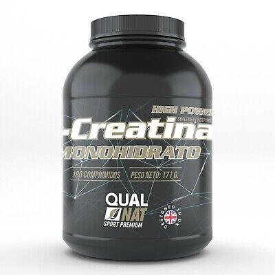 Creatina Monohidrato 180 Comprimidos Maximiza La Fuerza Muscular y La Energía