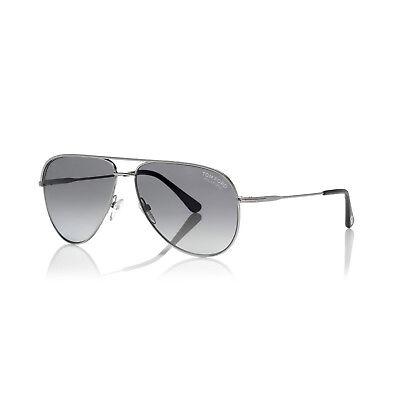 TOM FORD Aviator Sonnenbrille ERIN FT0466S 17D Silber /Grau polarisiert Unisex