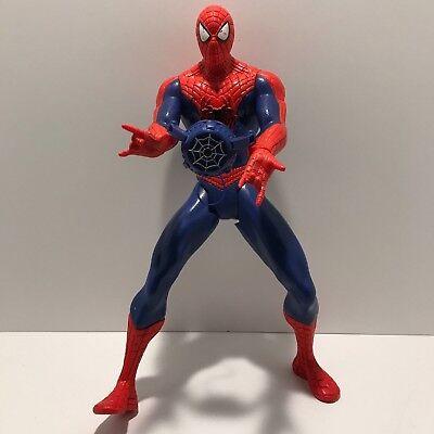 "Web Slinging Spiderman 14"" Tall Action Figure Marvel Hasbro Toy 2014 - Web Slinging Games"