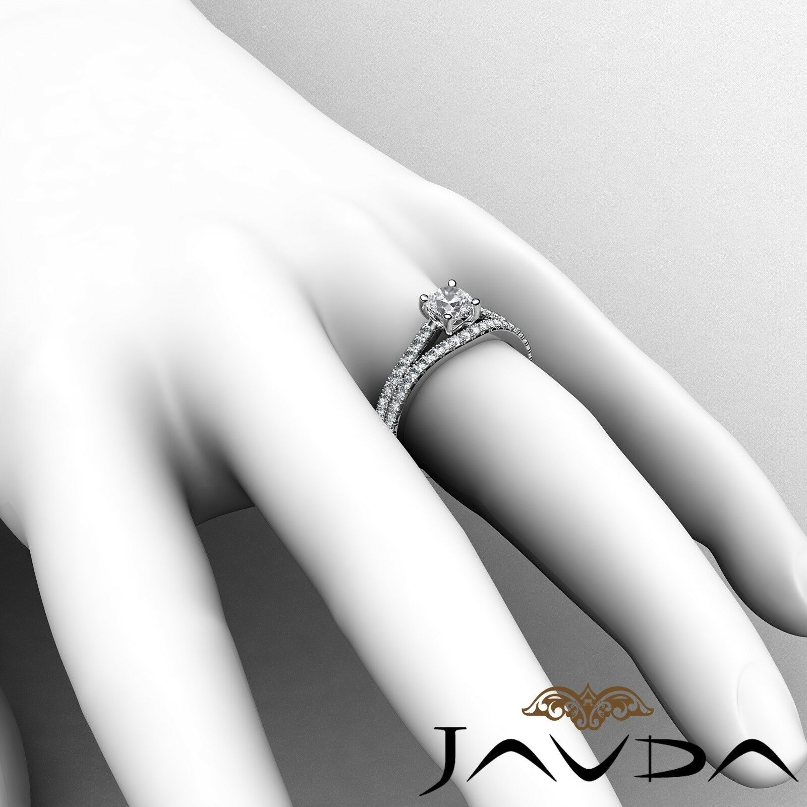 1.51ctw Double Prong Bridal Set Cushion Diamond Engagement Ring GIA F-VS1 W Gold 6