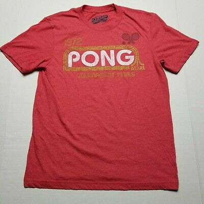 Old Navy Atari Pong Tournament T-Shirt Mens sz S Red Tee Old School Game E31