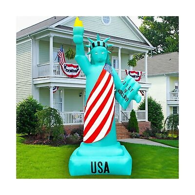SEASONBLOW 8 Ft Patriotic Independence Day Inflatable Statue of Liberty Decor...