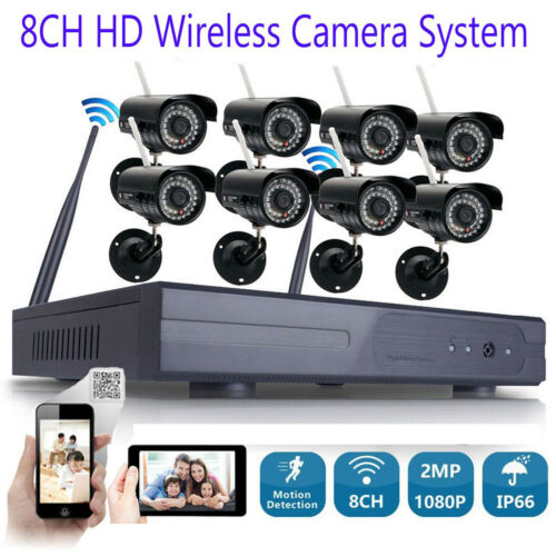 Wireless Security IP Camera System 8CH 1080p WIFI HDMI NVR I