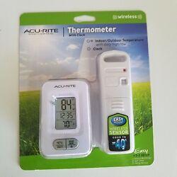 AcuRite New  Wireless Digital Indoor/Outdoor Thermometer Clock 02044W1