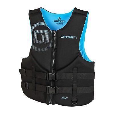 O'Brien Watersports Traditional Men Safe Life Jacket, Cyan,