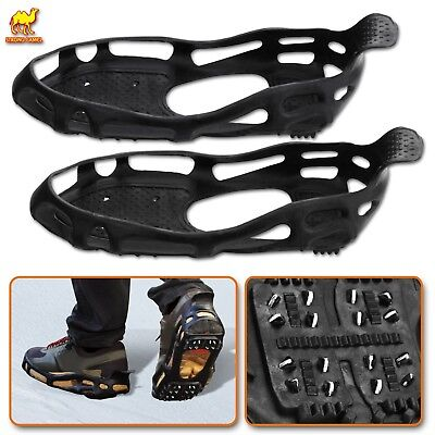 New Ice Snow Cleats Traction Grippers Shoes Boots Rubber Spikes w 24 Steel Studs