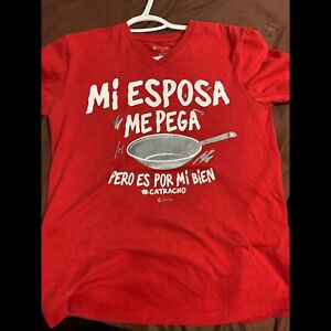 Spanish message (My wife hits me, but is for my own good
