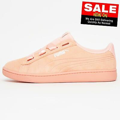 Puma Vikky V2 Ribbon SUEDE LEATHER Classic Casual Women's Ladies Girls Trainers