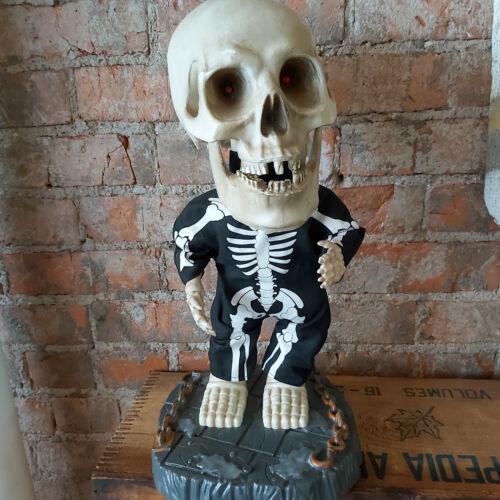 """Gemmy Dancing & Singing 18"""" Skeleton w Big Head Super Freak Works *SEE VIDEO*"""