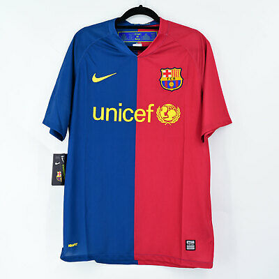 Camiseta FC Barcelona 2008-09 (M) Replica Retro Triplete