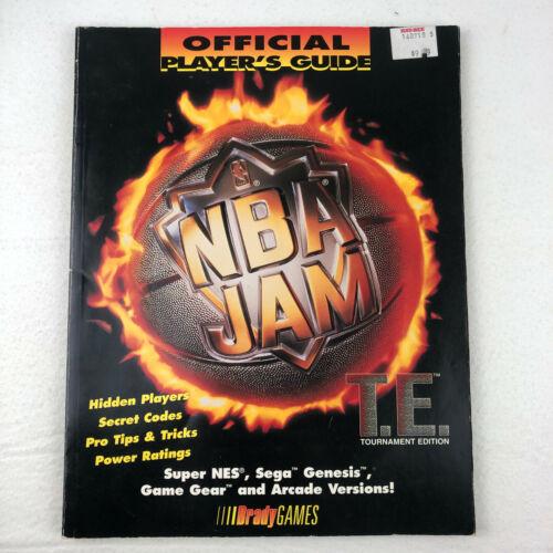 NBA JAM Tournament Edition Official Players Guide Brady Games SNES Sega Genesis