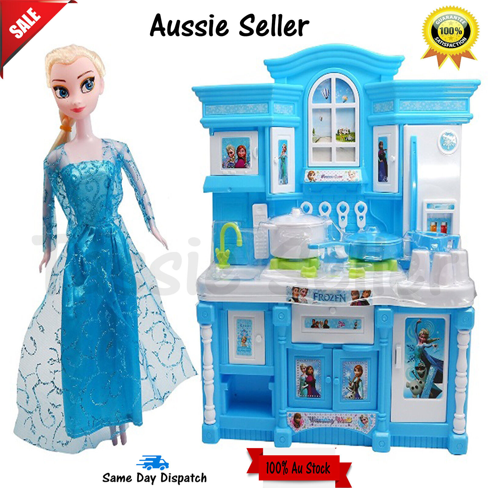 Details about brand new frozen luxury kitchen set play set xmas party gift toy girls kids 2019