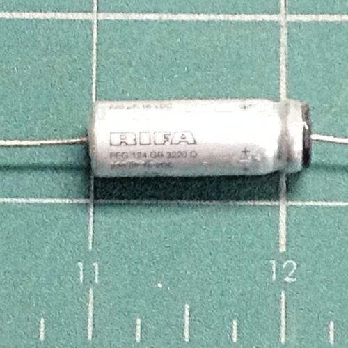 RIFA PEG124 220uF 16VDC -10/+30% +125C LongLife Electrolytic Capacitor Axial NOS