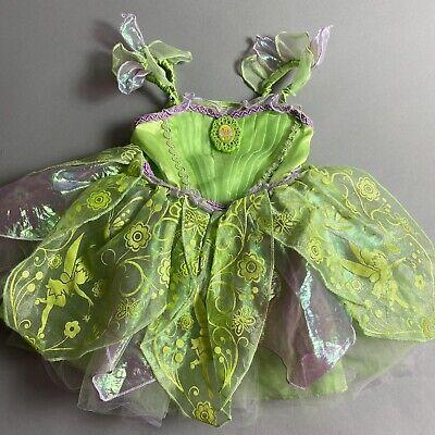 Disney Store Toddler Girl XXS 2-3 Tinkerbell Fairy Halloween Costume