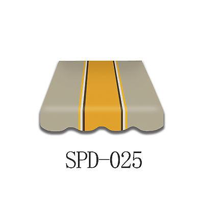 Markisentuch Markisenbespannung Ersatzstoff mit Volant 300x200,  SPD025