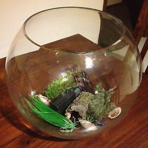 Large round fish bowl with accessories. Sailors Gully Bendigo City Preview