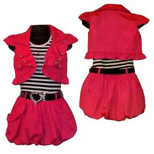 Girls PARTY Summer Dress, Shrug/ Jacket&Belt 3 P