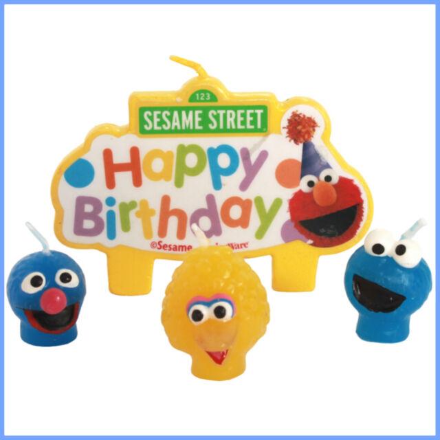Sesame Street Candles - Birthday - Moulded Birthday Candles Big Bird - Elmo