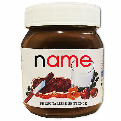 Personalised Name Nutella Label Birthday Christmas Halloween Ideal Gift Present!