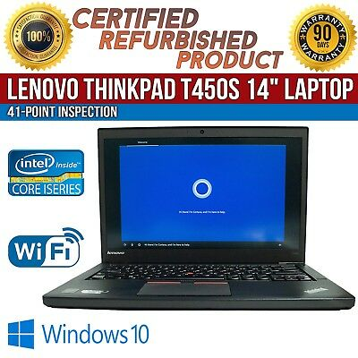 "C Grade Laptop Lenovo ThinkPad T450s 14"" Intel i7 8GB RAM 500GB HDD Win 10 WiFi for sale  Shipping to Canada"