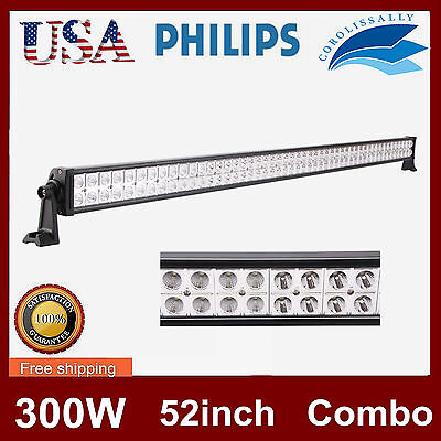 PHILIPS 52INCH 300W LED LIGHT BAR DRIVING SPOT&FLOOD WORK LAMP OFFROAD TRUCK HOT