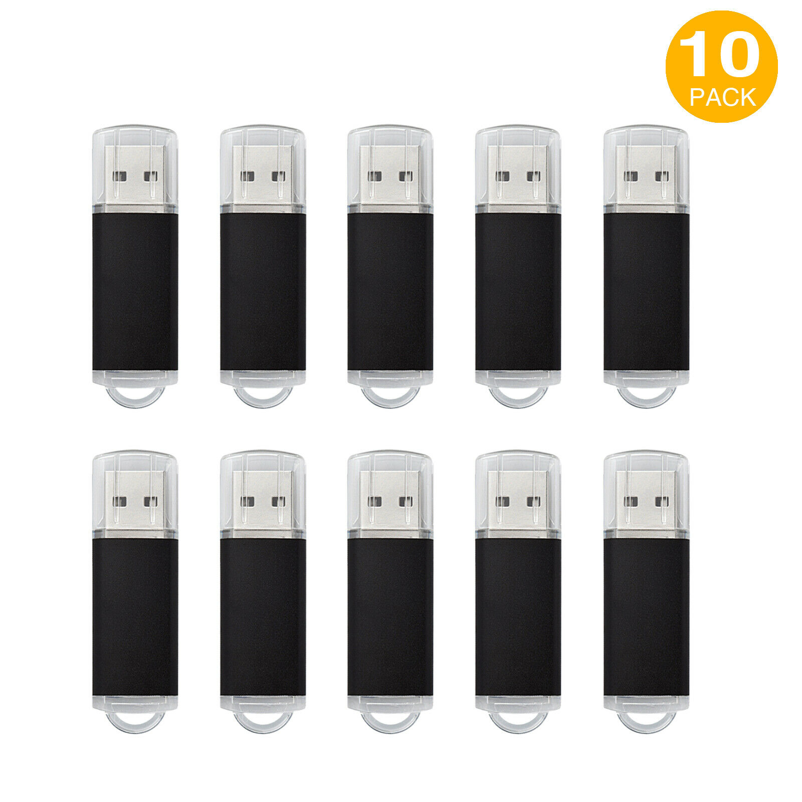 10Pack 1G 2G 4G 8G 16G USB Flash Drive Memory Stick Rectangle Thumb Pen Storage 126