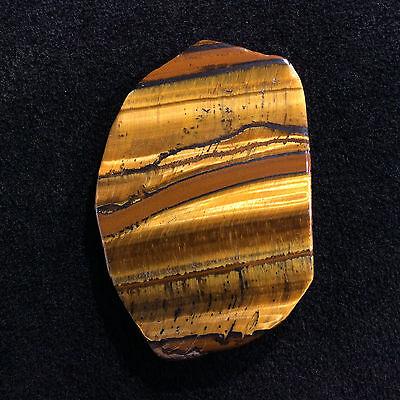 Golden Tigers Eye Palm Stone 170213 Metaphysical Healing Crystal